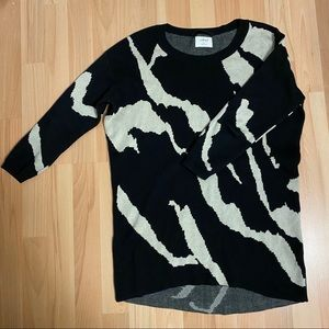 Aritzia Wilfred Printed Sweater Sz S Silk/Cashmere